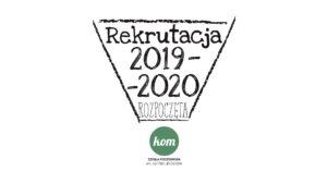 plakat ogłaszający początek rekrutacji do szkoły podstawowej KOM w Miliczu na rok szkolny 2019-2020