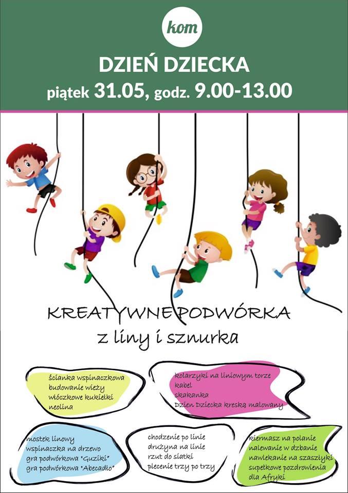 Dzień dziecka 2019 w szkole KOM - plan zabaw