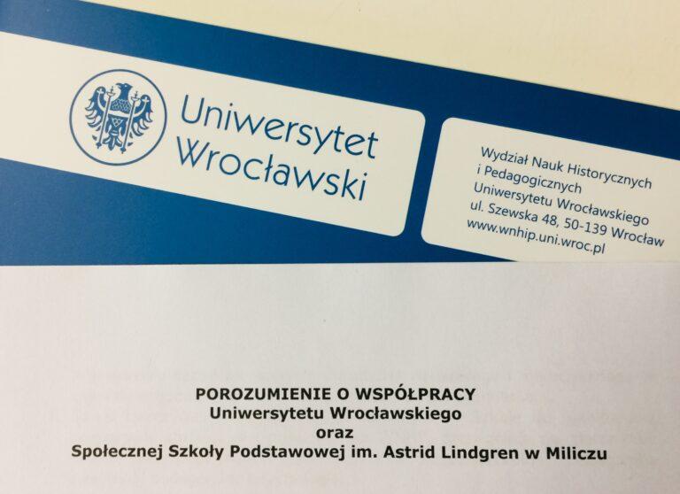 Współpraca z Uniwersytetem Wrocławskim